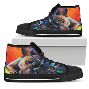 French Bulldog Women's High Top Sneakers