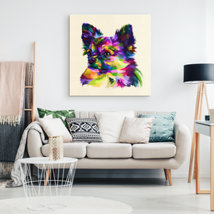 Colorful Chihuahua Canvas Wall Art