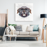 Abstract Staffordshire Bull Terrier Canvas Wall Art