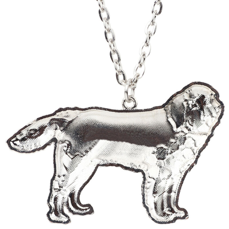 Enamel Newfoundland Pendant Necklace