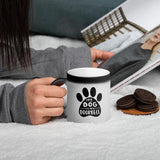My Dog Is My Doorbell Matte Black Magic Mug - 11 Ounces