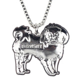 Enamel Shih Tzu Pendant Necklace