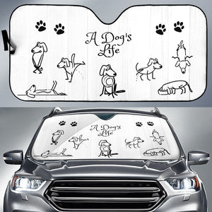 A Dog's Life Car Sun Shade