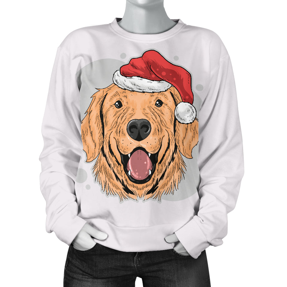 Santa Golden Retriever Women's Sweater