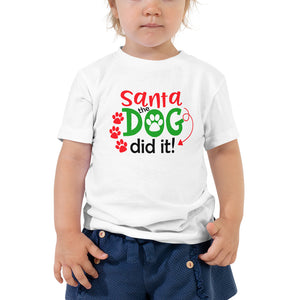 Santa The Dog Did It Toddler Short Sleeve Tee