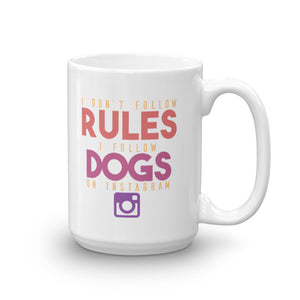 Instagram Dogs Mug - 15 Ounces