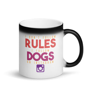 Instagram Dogs Matte Black Magic Mug - 11 Ounces