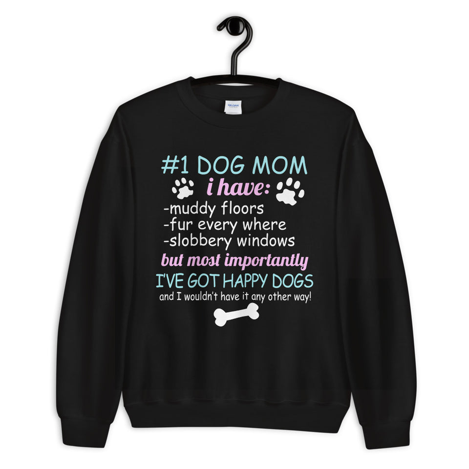 #1 Dog Mom Unisex Sweatshirt