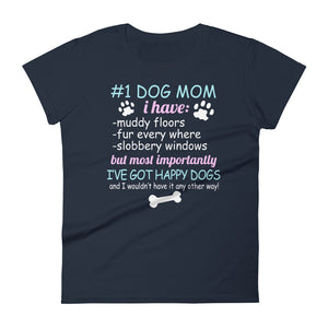 #1 Dog Mom Women's T-Shirt