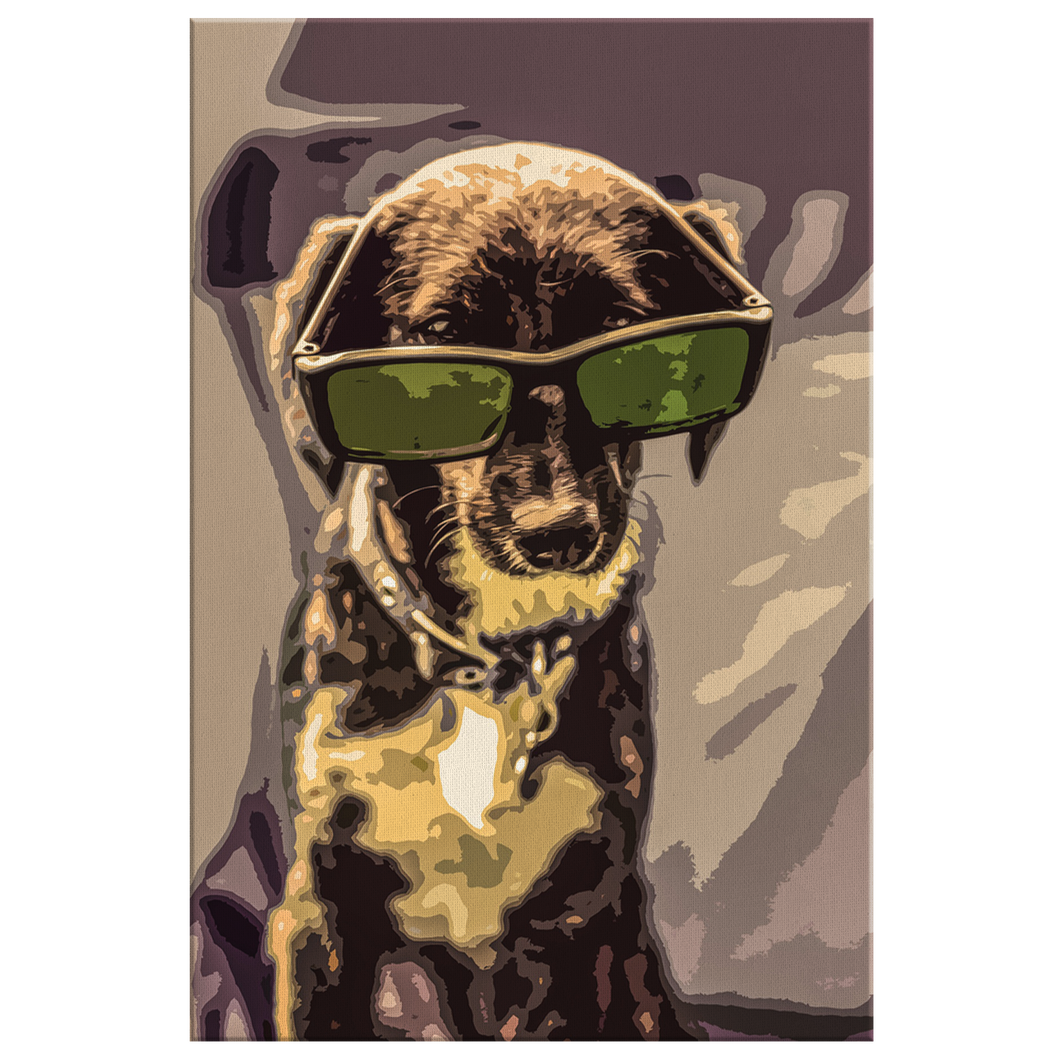 Brown Dog With Glasses