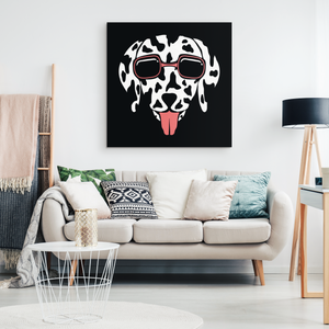 Abstract Dalmatian Canvas Wall Art