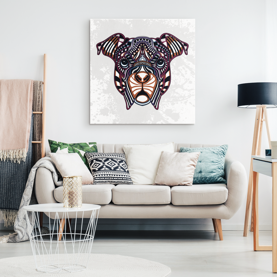 Abstract Rottweiler Canvas Wall Art