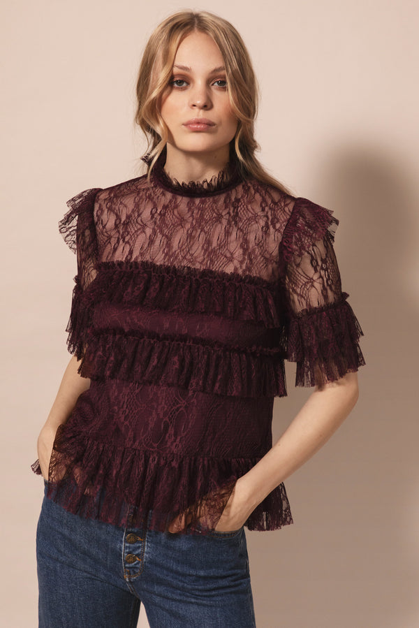 RACHEL BLOUSE  Deep Wine