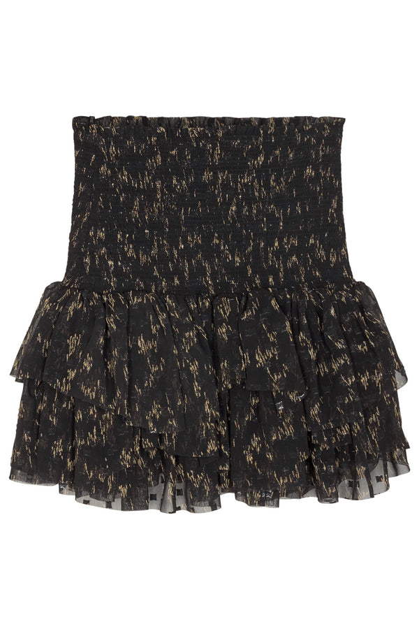 G KIELY SHORT SKIRT  Black/Camel Print
