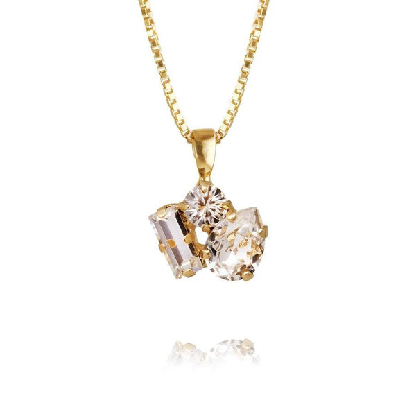 ISA NECKLACE GOLD  Crystal