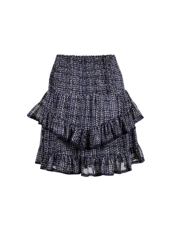 LINE DOTTED LINE SKIRT  Navy