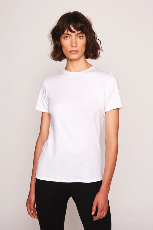 THE AGNES ROUNDNECK T-SHIRT  White