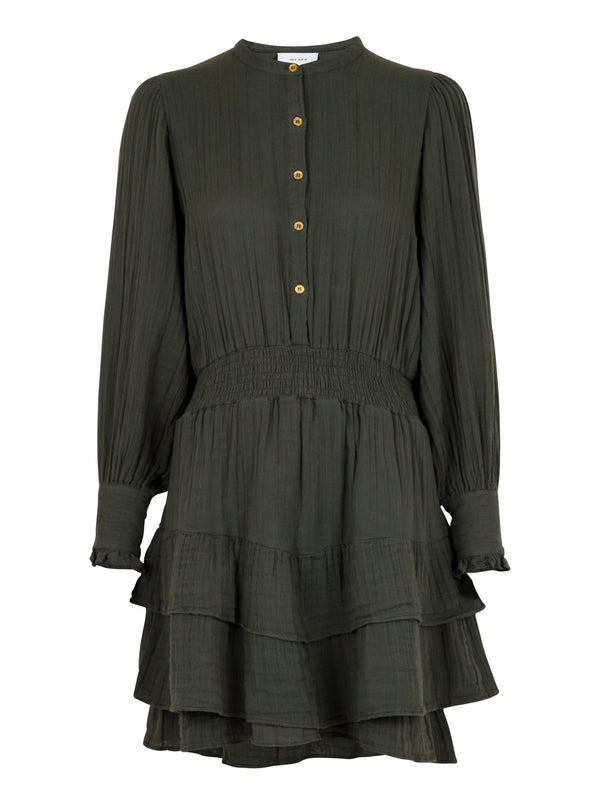 BIMBA GAUZE DRESS  Army
