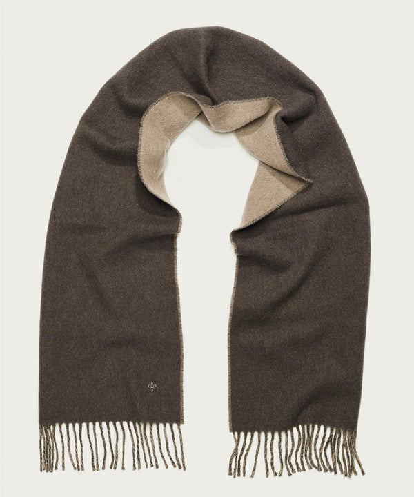 DOUBLE FACE SCARF  Brown