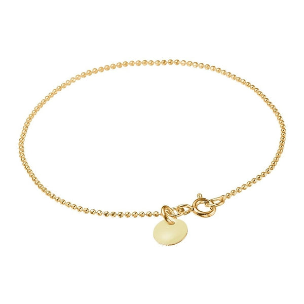 BRACELET BALL CHAIN  Beige
