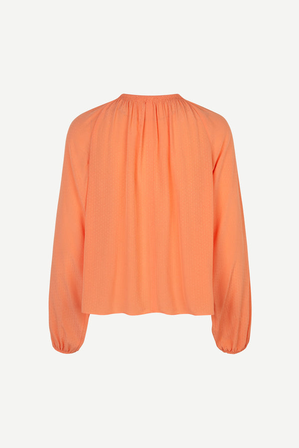 KAIA BLOUSE  Bright Coral