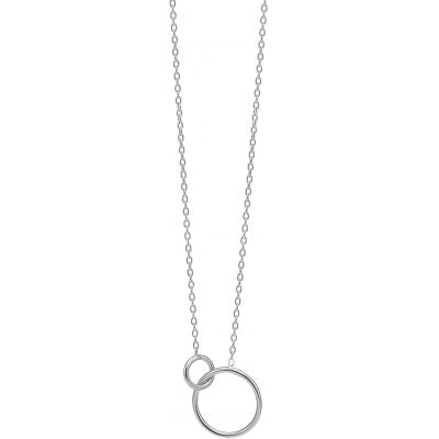 NECKLACE, DOUBLE CIRCLE  Silver
