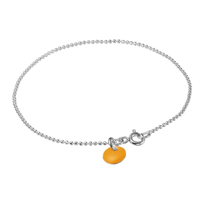 BRACELET BALL CHAIN  Oransje
