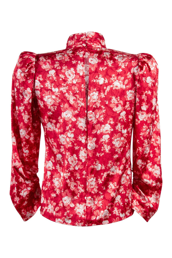 GRACE BLOUSE  Rose Col Red