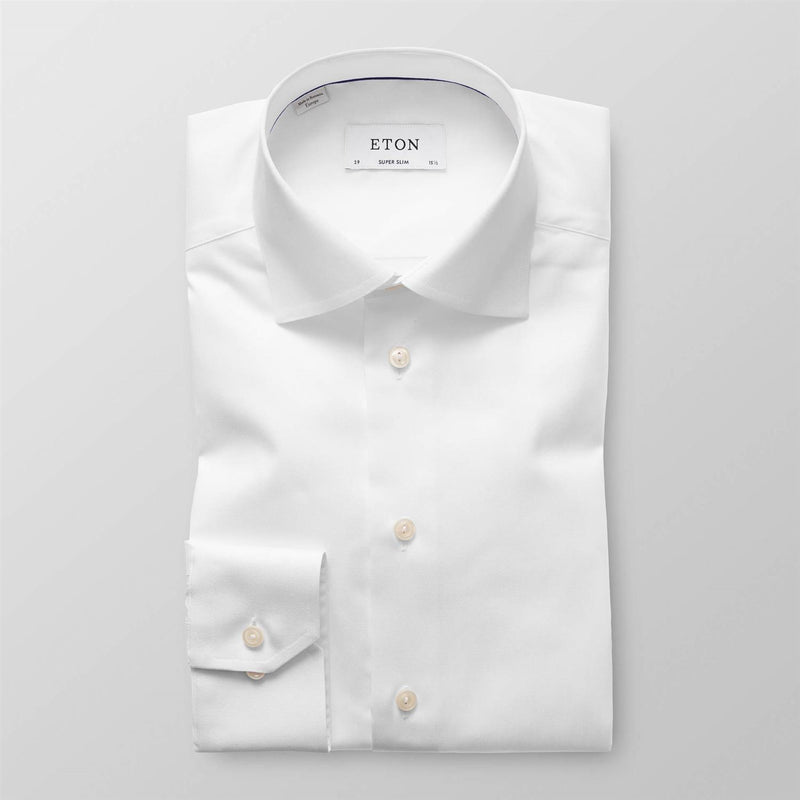 Signature Twill Shirt - Super Slim  White