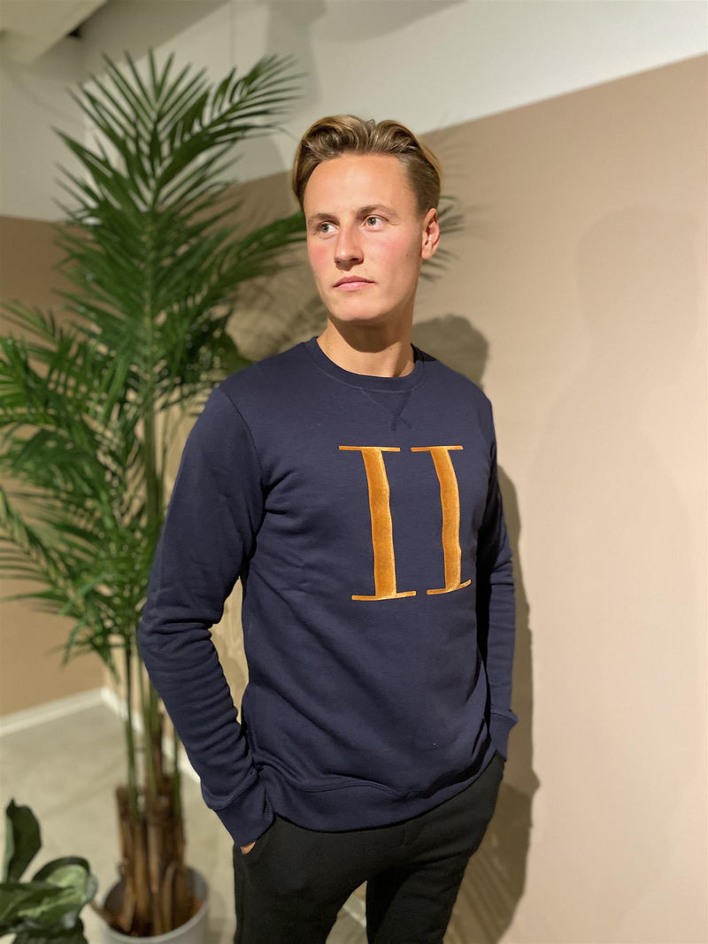 ENCORE SWEATSHIRT  Dark Navy/Rusty Brown