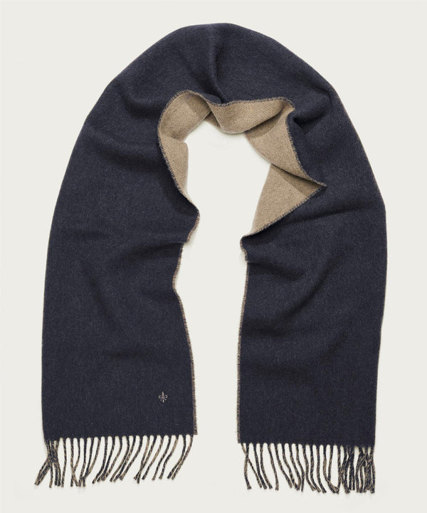 DOUBLE FACE SCARF  Navy