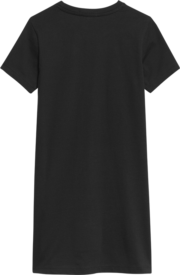 REPEAT FOIL T-SHIRT DRESS  Black