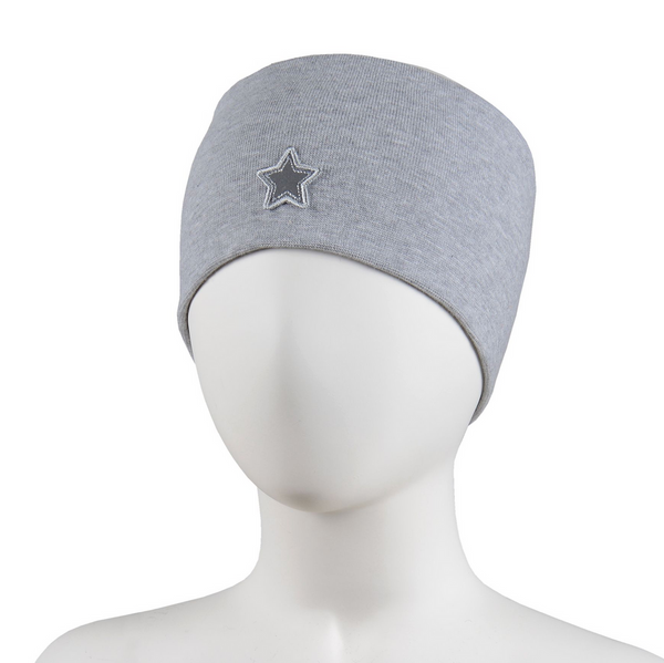 STAR HEADBAND  Grey Melange