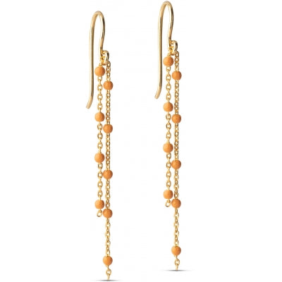 EARRING, FURA  Orange
