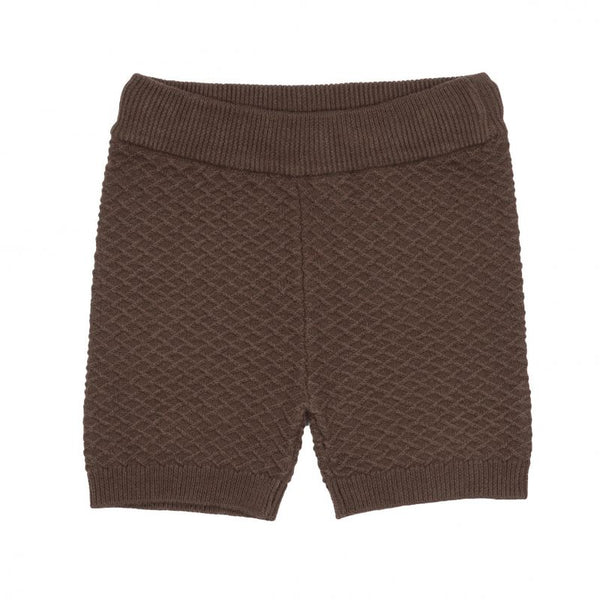 JIM KNIT SHORTS  Brun