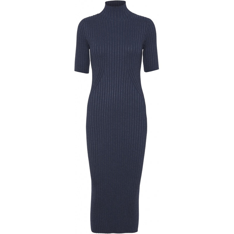 KARLINA S/S KNIT DRESS  Blue Melange