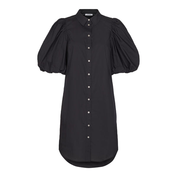 COLLIE PUFF SLEEVE DRESS  Black