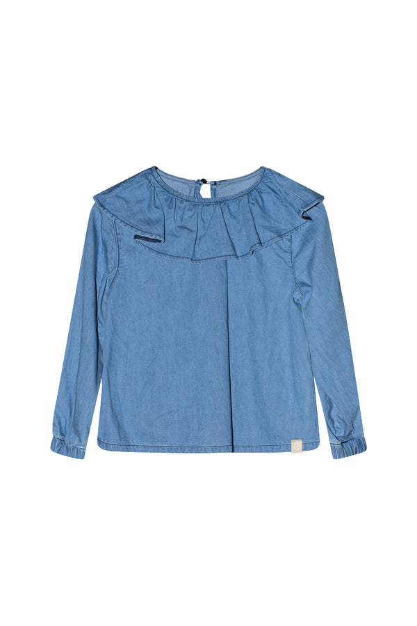 BILLIE DENIM BLOUSE  Blue
