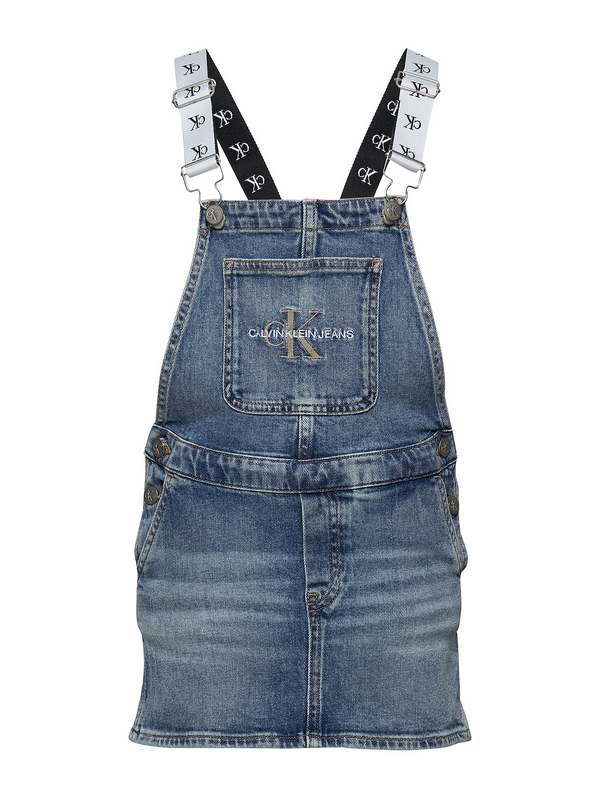 DUNGAREE DRESS  Blue