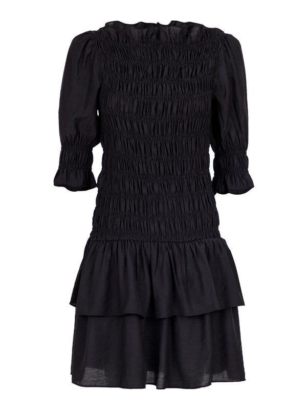 BYRON SMOCK DRESS  Black