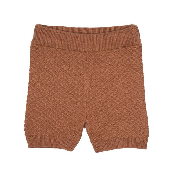 JIM KNIT SHORTS  Rustrød
