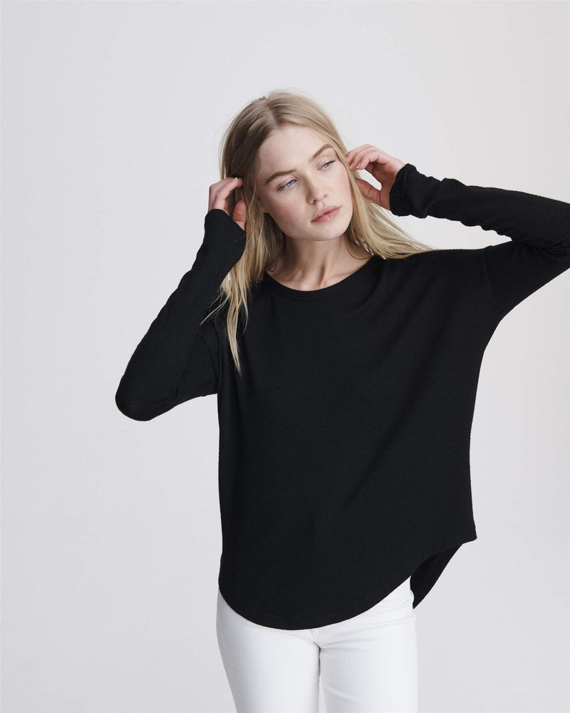 THE KNIT L/S  Black