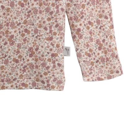WOOL T-SHIRT LS  Flowers