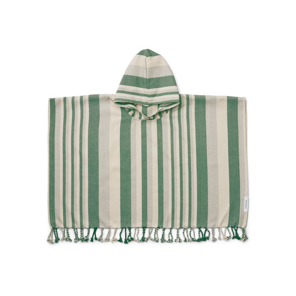ROOMIE PONCHO  Y/D Garden Green/Sandy/Dove Blue