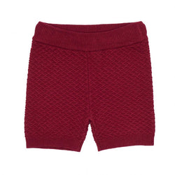 JIM KNIT SHORTS  Mørkerød