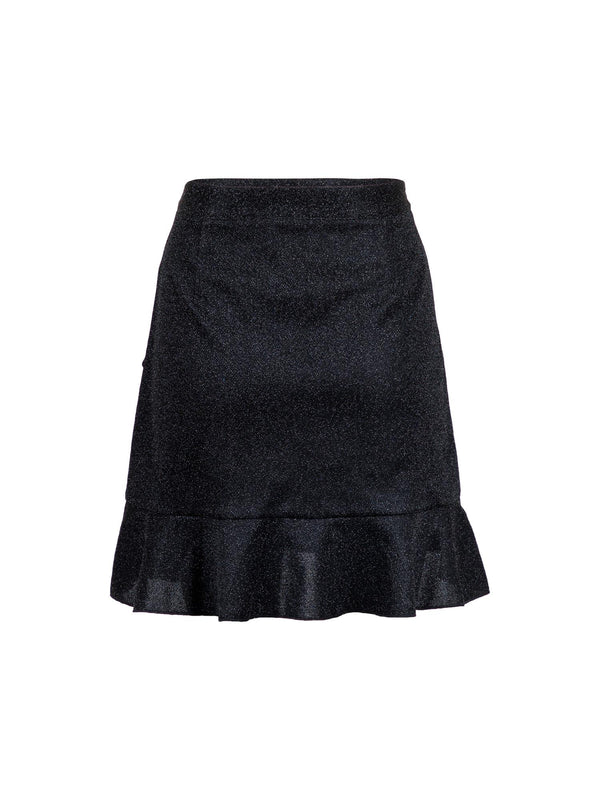 FRILLA LUREX SKIRT PARTY  Black
