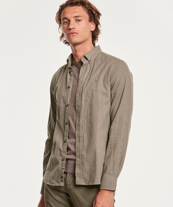 NELSON BUTTON DOWN SHIRT  Olive