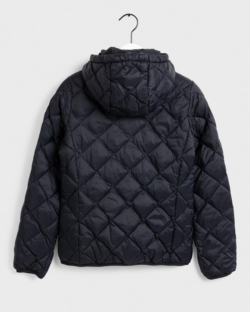 LT WEIGHT DIAMOND PUFFER  Black