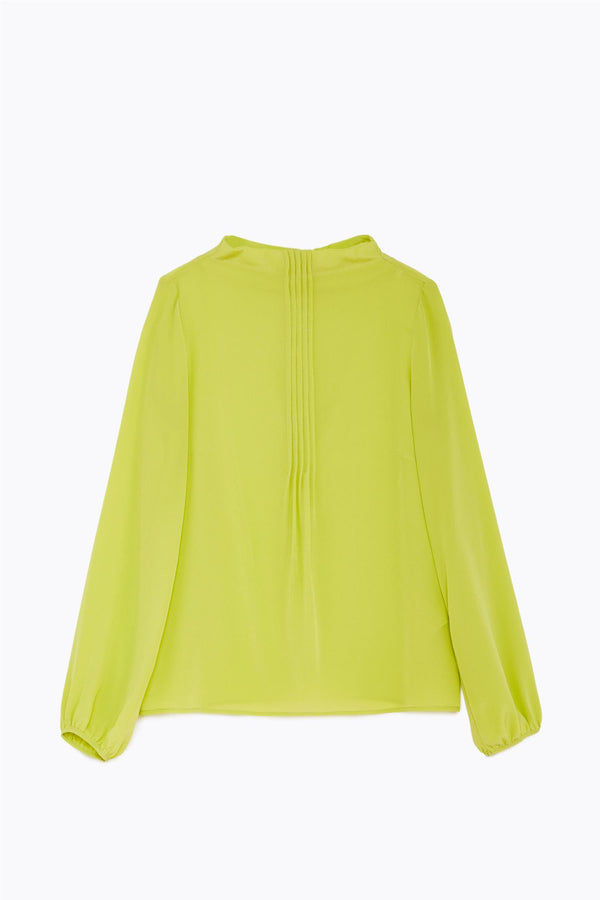 SILK BLOUSE  Lime