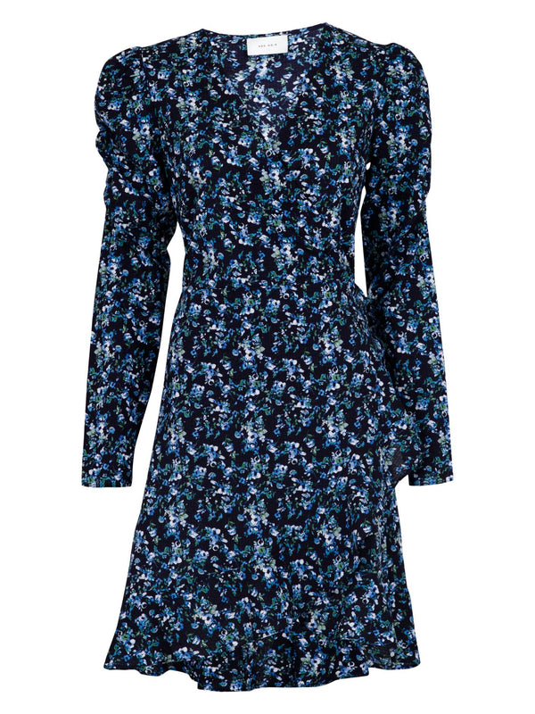 REEVA BOTANICAL DRESS  702 Dark Navy